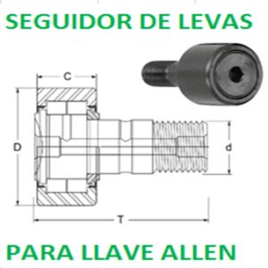 """CFH 4 SB MCGILL SEGUIDOR DE LEVAS PARA LLAVE ALLEN REFORZADO TORNILLO 2"""""""