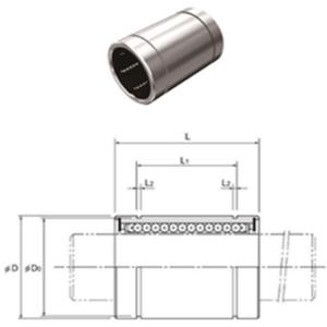 LBB 16 UU OBD BUJE LINEAL EXTERIOR METALICO E INTERIOR PLASTICO FLECHA 1″