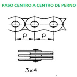BL434 CADENA MONTACARGAS PASO 40 3 X 4 MARCA ECONOMICA ROLLO 10FT