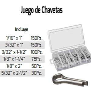 KIT DE CHAVETAS VARIAS MEDIDAS