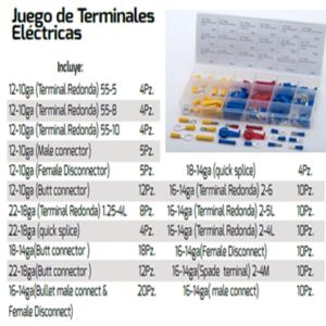 KIT DE TERMINALES ELECTRICAS DE COLORES VARIAS MEDIDAS
