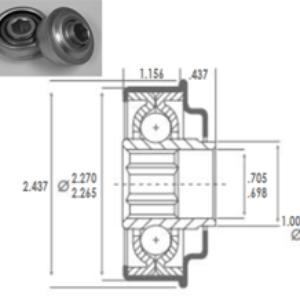 "2500 BALERO OBD INTERIOR HEXAGONAL 11/16"" PARA TUBO 2 1/4″"